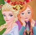 Elsa e Anna presentes de natal