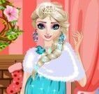 Elsa grávida maquiar e vestir no natal
