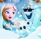 Olaf no castelo de gelo