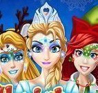 Princesas pinturas do rosto natal