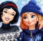 Princesas roupas de frio