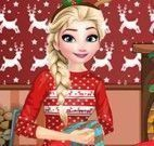 Vestir princesa Elsa para natal