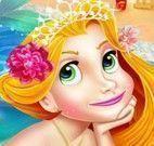 Maquiagem e roupas Rapunzel sereia