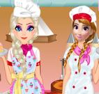 Anna e Elsa roupas master chef