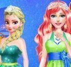 Anna, Elsa e amiga roupas