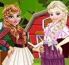 Anna e Elsa na fazenda moda