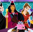 Bolo de halloween princesas