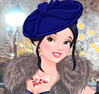 Princesas roupas de frio elegante