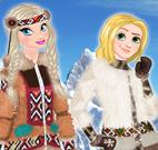 Roupas de esquimó das princesas