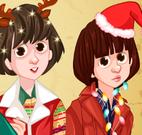 Vestir crianças no natal