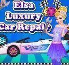 Elsa lavar e consertar carro
