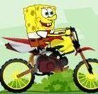 Bob Esponja corrida de moto