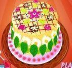 Decorar bolo das flores