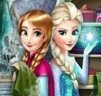 Anna e Elsa congelar cenas