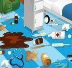 Fazer limpeza da clínica médica