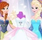 Elsa e Anna vestido de noiva