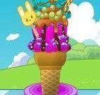 Decorar sorvete de três bolas