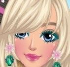 Barbie limpeza de pele e maquiar