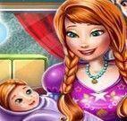 Anna e Kristoff decorar quarto do bebê