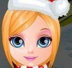 Barbie bebê arrumar para Natal