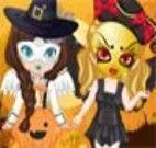 Vestir irmãs para halloween
