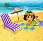 Dora cenário na praia
