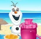 Olaf fazer suco