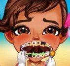 Moana bebê dentista