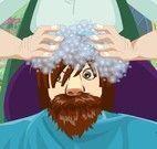 Kristoff no cabeleireiro