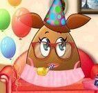Pou menina decoração da festa de aniversário