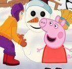 Peppa Pig decorar boneco da neve