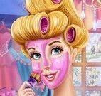 Princesa Cinderela tratamento facial