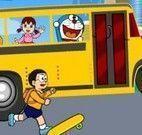 Doraemon ônibus da escola