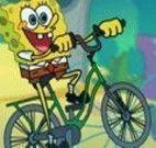 Andar de bike com Bob Esponja