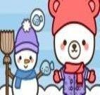 Enfeitar bonecos da neve
