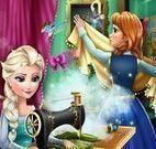 Elsa e Anna costurar