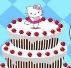Decorar bolo de frutas da Hello Kitty