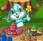 Servir cesta de ovos de Páscoa