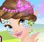 Fada princesa pintura do rosto