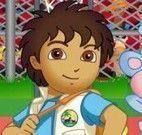 Jogo de basquete com Diego