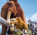 Montar quebra cabeça dos mamutes