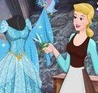 Cinderela costurar vestido das princesas