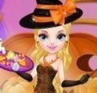 Vestir bruxa do halloween