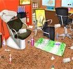 Limpar o salão de beleza