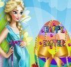 Elsa grávida fazer ovo de páscoa