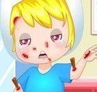 Cuidar dos ferimentos do garoto