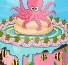 Decorar bolo fundo do mar