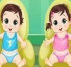 Bebês da Elsa cuidar