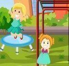 Achar diferenças da menina no parque