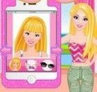 Barbie maquiar e selfie